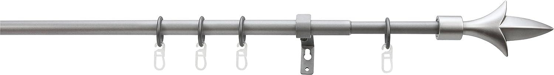 Tringle extensible LILIE /Ø 13//16mm de 70-130cm en m/étal Noir
