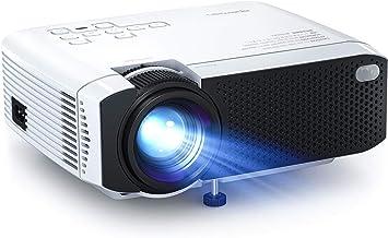APEMAN - Proyector portátil de 4500 lúmenes, doble altavoz LED de hasta 50.000 horas de cine en casa, compatible con 1080p, HDMI/USB/VGA/Micro SD, compatible con Android IOS TV Box: Amazon.es: Electrónica