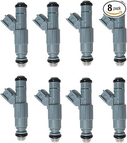 Set of 8 OEM Bosch Fuel Injectors for 2001-2007  Dodge Dakota 4.7L V8