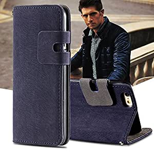 Cell Buddy Vintage Business Style Flip Genuine Leather Cover For Iphone 6 4.7 Inch and Iphone6 Plus Stand Wallet Case For iPhone 6 5.5'' --- Color:Shell For I6 Plus