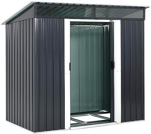 Gardebruk® - Caseta de jardín de Metal, 2 m², 2 Ventanas, Puerta ...