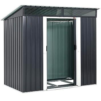 Gardebruk® Abri de jardin en acier galvanisé 3,35m³ 2 fenêtres ...