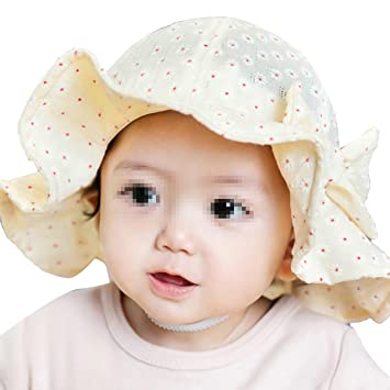 df430b22a56 Butterme 100% Cotton Cute Floral Princess Bowknot Bucket Hat Spring Summer  Sun Hat Cap for