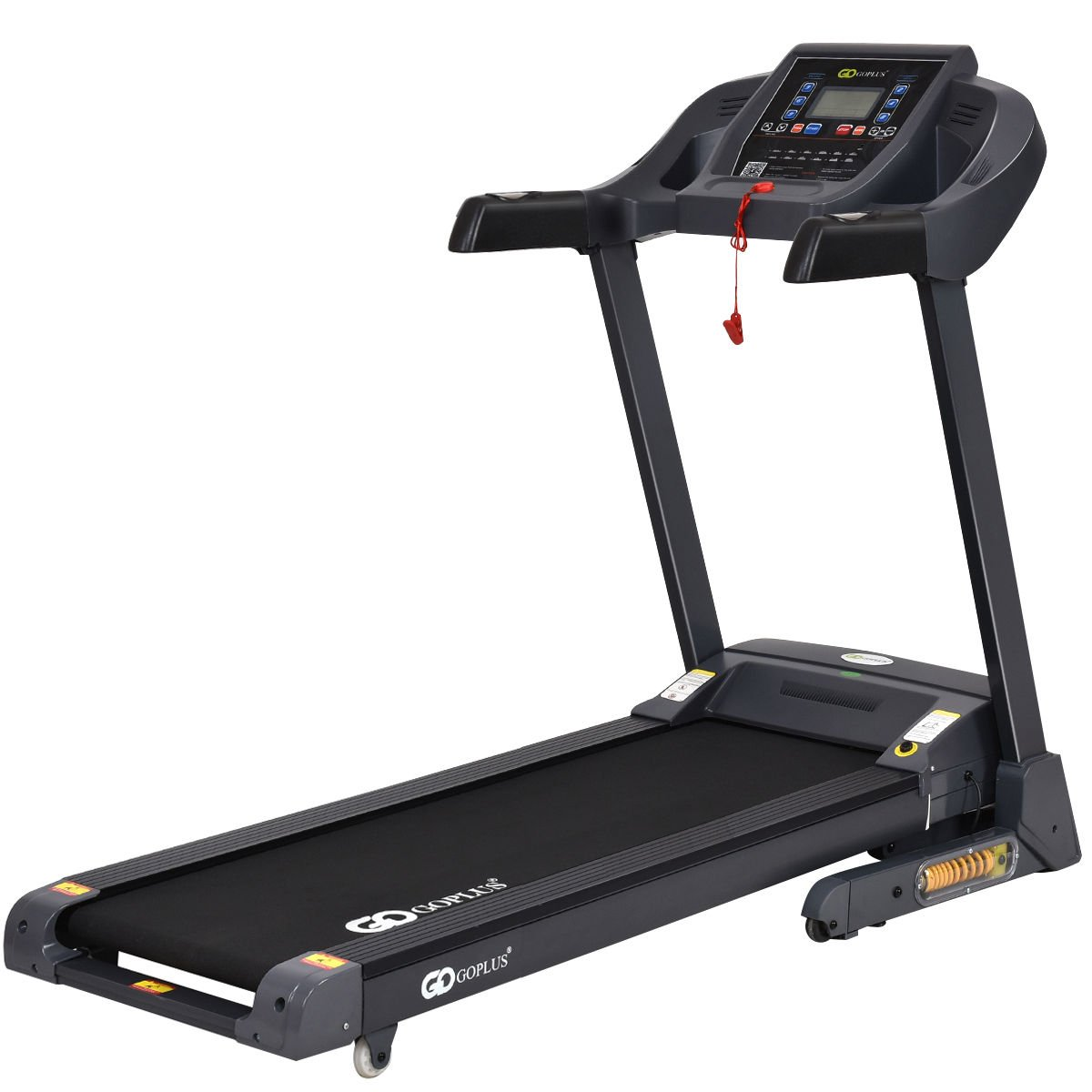 Goplus 2.5HP Folding Treadmill Electric Support Motorized Power Running Fitness Jogging Incline Machine W/APP Control & Shock-Absorption System (New Model) by Goplus (Image #1)