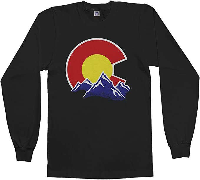 Threadrock Men/'s Colorado Flag T-shirt state denver