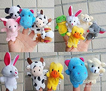 Amazon.com: 10 diseño dedo juguete marioneta de dedo fieltro ...