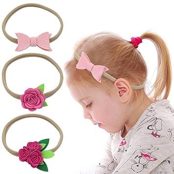 Nancyus005 Baby Girl Nylon Headbands Soft Elastic Hairband Hair Ties Hair  Accessories for Newborn Infant Toddlers a0ae52c696a