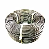 LUX 1/8'' 1x19 Strand Stainless Steel Cable Best Cable for Railing T316 - 500 feet