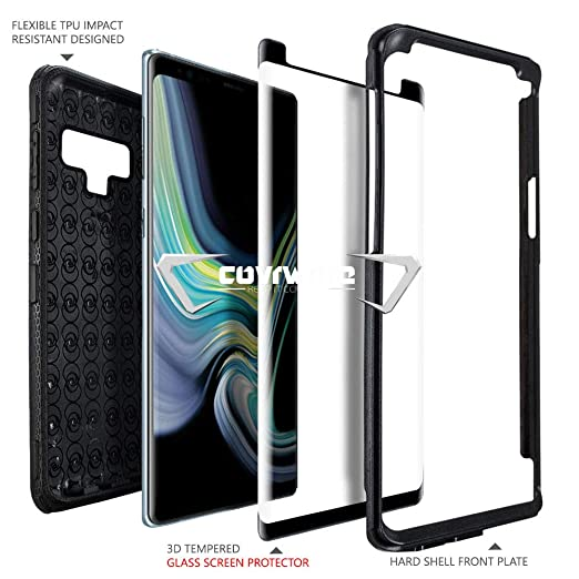 Amazon.com: Samsung Galaxy Note 9 Case, COVRWARE [Aegis Series] + [Tempered Glass Screen Protector] Heavy Duty Full-Body Armor Protective Cover [Belt Clip ...