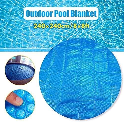 TongLingUSL プールカバー6フィート/ 7フィート/ 8フィートスクエア/ラウンド太陽プール浴槽カバー400メートル屋外バブル太陽プールカバー (Color : E ブルー, Size : Round 240x240cm)