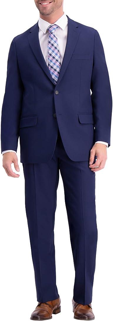 Haggar Mens Active Series Classic Fit Stretch Suit Separate Pant 50L blue blazer
