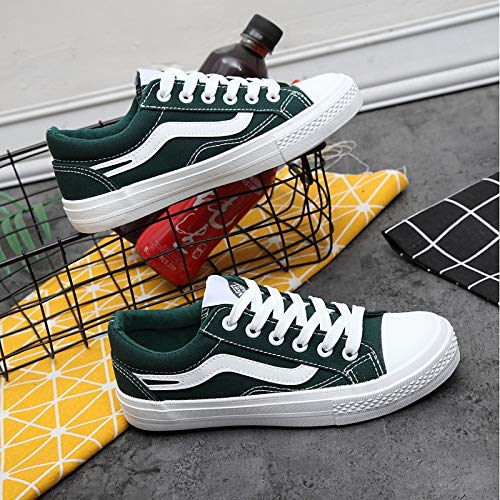 Canvas Zapatos Blanco Green Spring Verde Flat Comfort ZHZNVX Sneakers de Negro Mujer Heel dgtqzaw