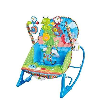 CWLLWC Silla Mecedora de bebé, música sacudir sacudir Azul ...