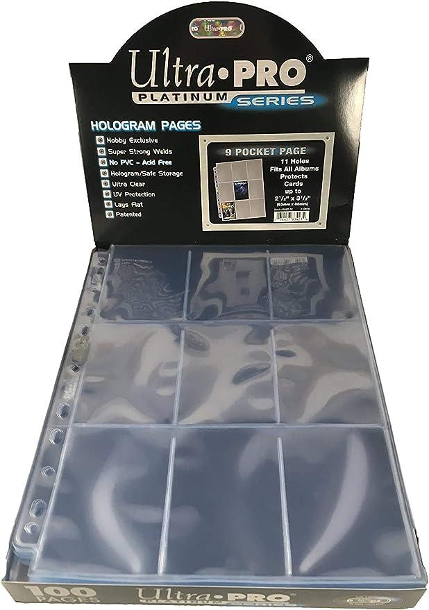 Ultra Pro Caja de 100 Hojas de 9 Bolsillos, Multicolor, 23 x 3.4 x 30 cm (E-83423): Amazon.es: Juguetes y juegos