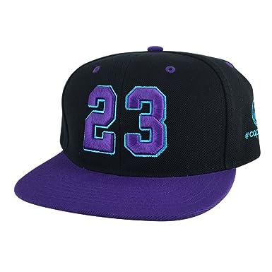 Number  23 Black Aqua Purple Visor Hip Hop Snapback Hat Cap X Air Jordan  Grape 3513d47fea0
