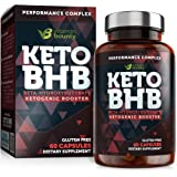 Keto BHB Exogenous Ketone Supplement - Beta Hydroxybutyrate Ketone Salt, Keto Pills - 60 Capsules