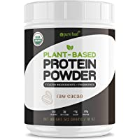 Pure Food: Plant Based Protein Powder with Probiotics | Organic, Clean, All Natural, Vegan, Vegetarian, Whole Superfood…