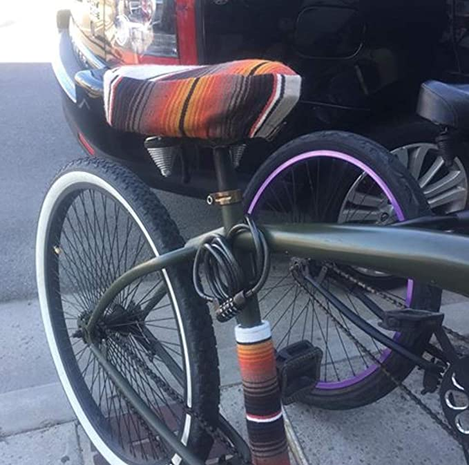 Amazon.com: Authentic Mexican Blanket Bicycle Seat Cover ...