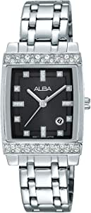 Alba Casual Watch for Women, Stainless Steel, Rectangle