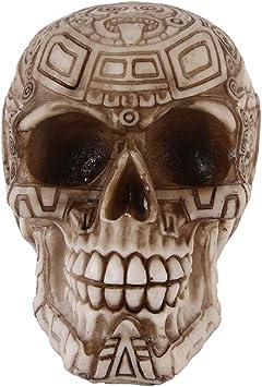 FIZZENN Resina Craft Tribal Tatuaje Maya Estatua Cráneo Esqueleto ...