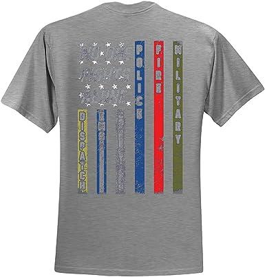 Nadie Lucha Solo Primer respondedor Camiseta Despachador EMS Correcciones Policía Fuego Militar Unidad Camiseta Bandera Americana Camiseta: Amazon.es: Ropa y accesorios