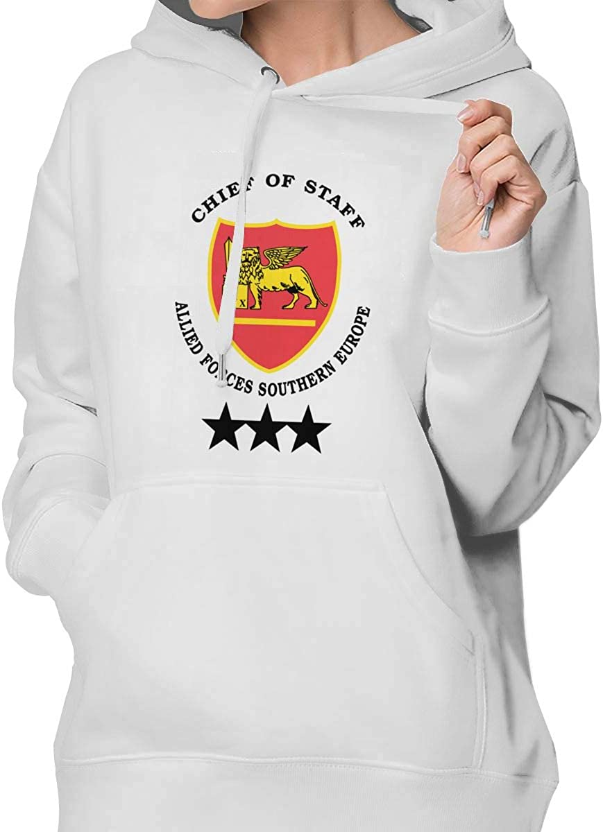 Chief of Staff Allied Forces Southern Europe Womens Pullover Hoodie Sweatshirt with Pocket