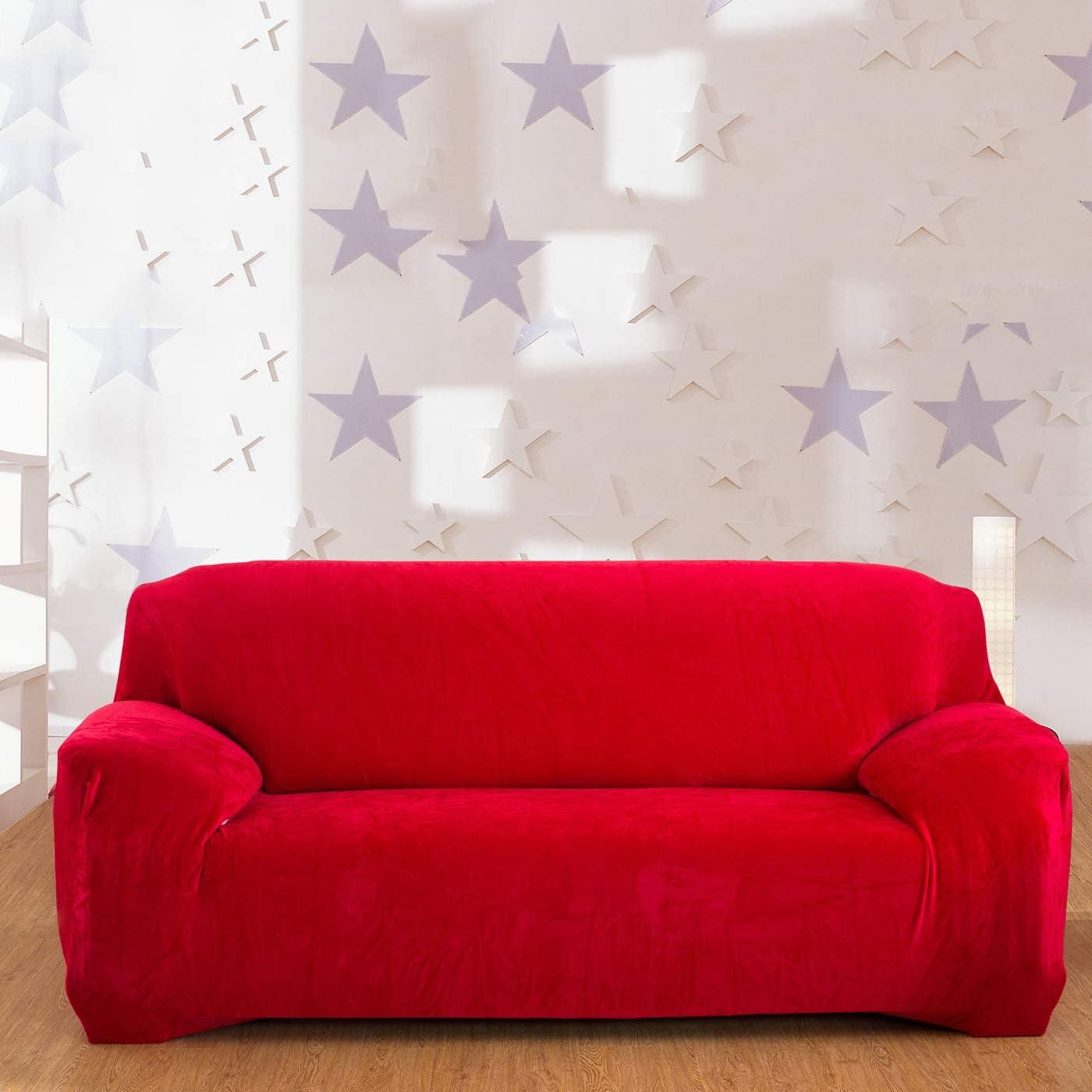 Rico Rojo Brillante Terciopelo cubierta del amortiguador