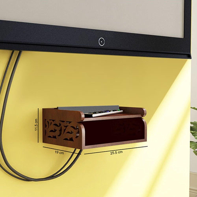 Amazon.com: Onlineshoppee Wooden Beautiful Design Set top box Wall ...