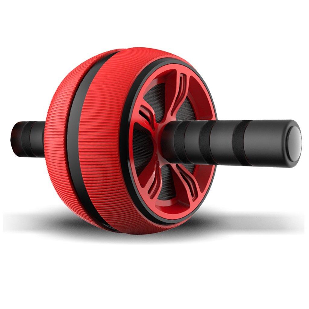 ローラーフィットネスホイール腹部運動ローラー腹部コアフィットネストレーナーエクササイサークランチホームジムトレーニングエクササイズ機器  Red B07P7LVYG6