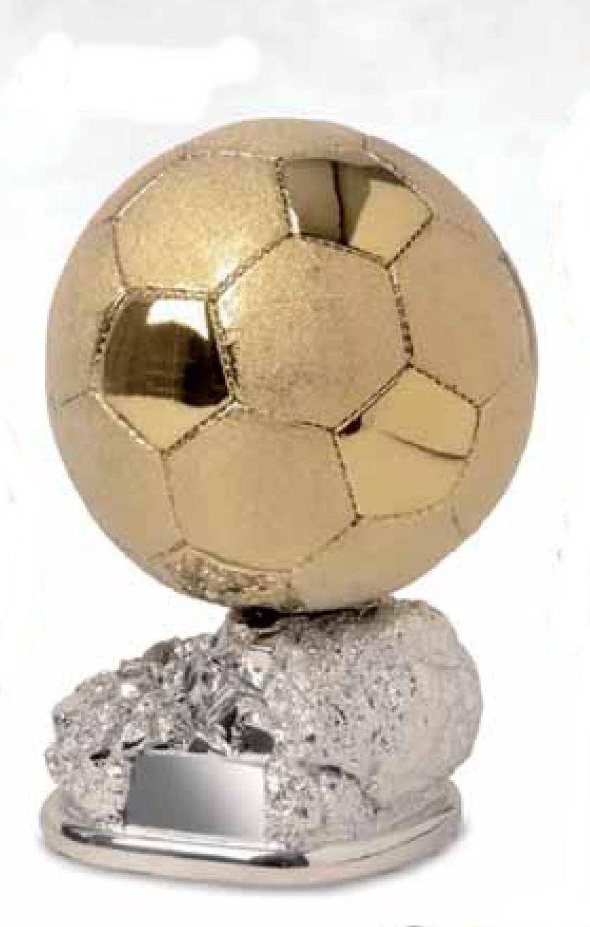Trofeo fútbol balón D Oro Brillante y satinado sobre base ...