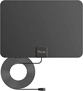 ANTAN Indoor Window HDTV Antenna 35-45 Miles Range -Support 8K 4K 1080P UHF VHF Freeview HDTV Channels with Longer 16.5ft Coaxial Cable