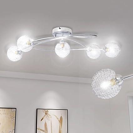 vidaXL Lámpara para techo bolas envueltas en malla 5 bombillas tipo G9