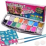 Best makeup brush set for beginner - Face Paint Kit, BIG BUMPER 16-Pack for Kids Review