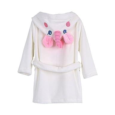 Toddler Baby Bathrobes for Girls Boys Soft Cotton Robes Kids Unicorn  Bathrobe Sleepwear S 427dde19a
