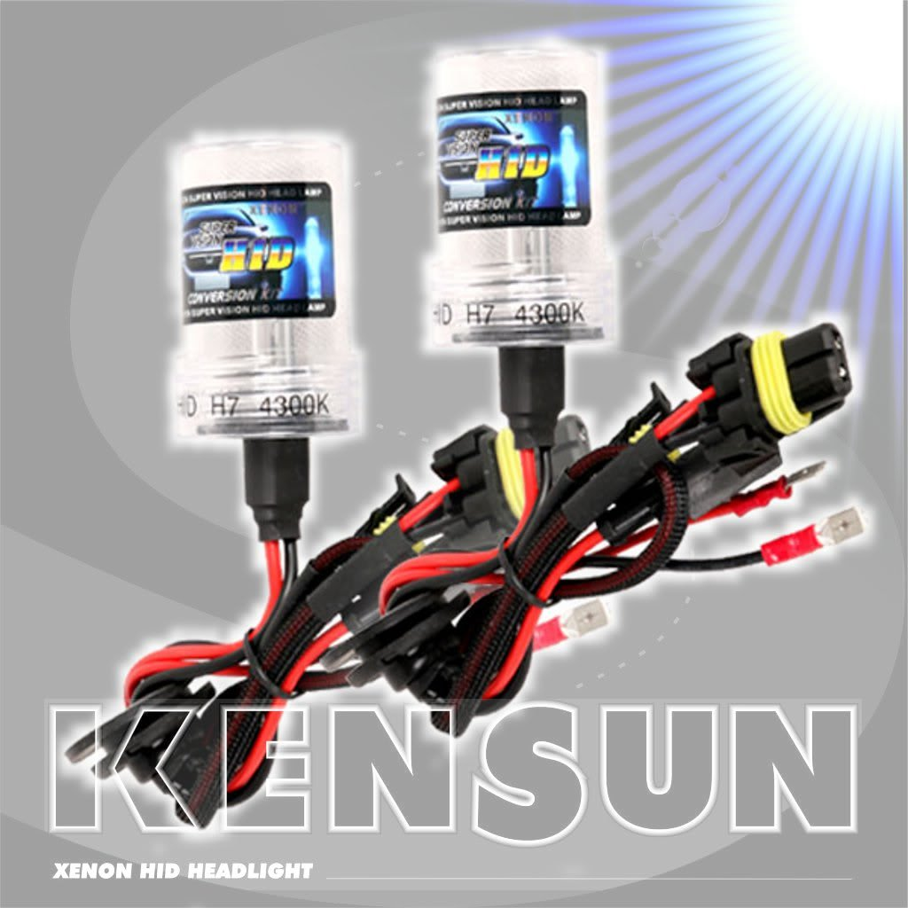 HID Xenon Headlight ''Slim'' Conversion Kit by Kensun, 9006, 5000K by Kensun