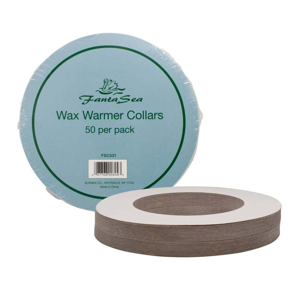 50 Pack FantaSea Standard Wax Warmer Collars Professional Protective Clean Pot