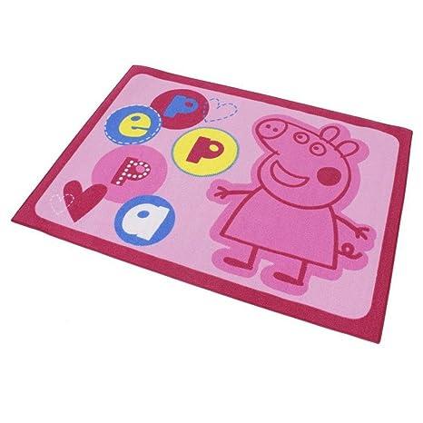 Alfombra niño Peppa Pig 133 x 95 cm carta: Amazon.es: Hogar