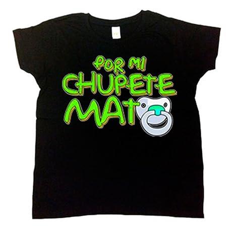 Camiseta niño Por mi chupete mato - Negro, 3-4 años: Amazon ...