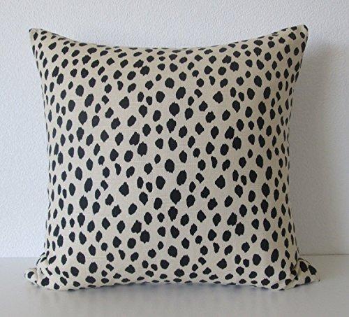 20x20 Dodie beige black spot animal print dot print decorati