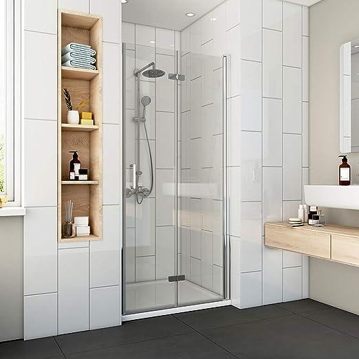 Cabina de ducha plegable, puerta de ducha, mampara de ducha ...