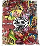 Bulk Variety Treat Bag (48oz) of Nerds, Skittles, Sour Patch Kids, Starburst, Swedish fish, Twizzlers, Haribo Bears for Kids Lunch Box