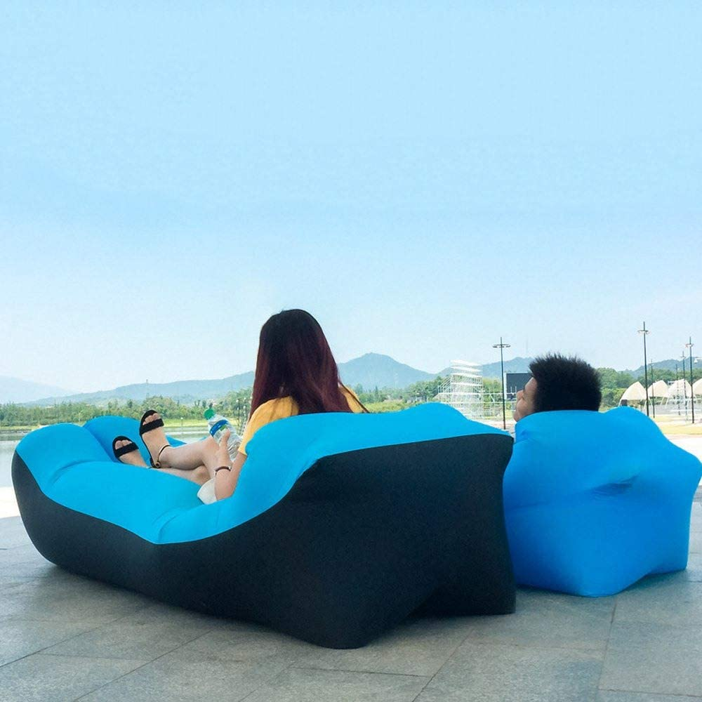 Portatile XD7 Divano Gonfiabile per Esterni Sacco per Rilassarsi e gonfiare per Piscina Divano Borsa da Spiaggia Impermeabile per Campeggio Green