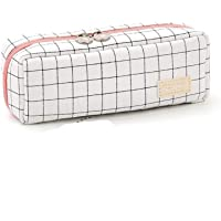 Wangyiqian Pencil Pen Case Multi Compartments Pen Bag Pouch Holder Large Capacity Square Grid Cosmetic Bags Organizer…