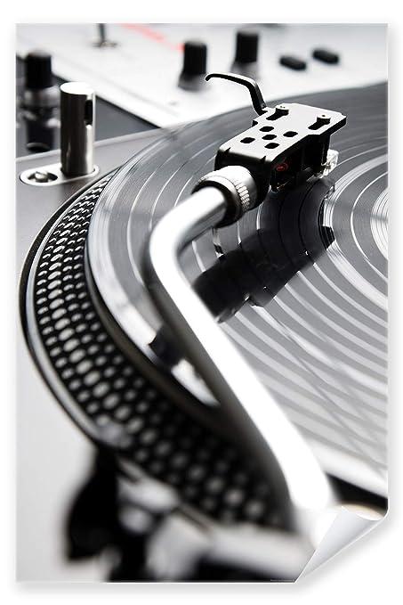 Póster con diseño de - tocadiscos de 01 - de DJ Disco de la ...