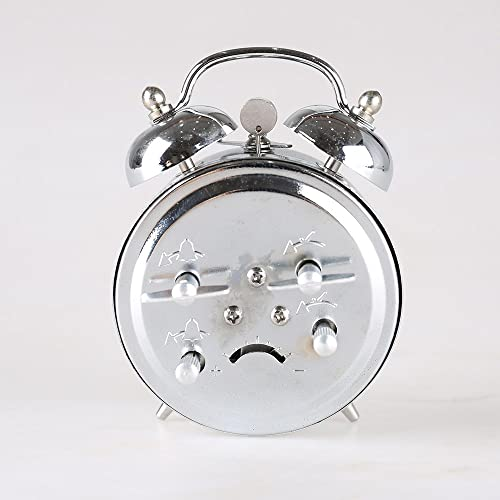 Besplore Double Bell Mechanical Wind Alarm Clock,Silver
