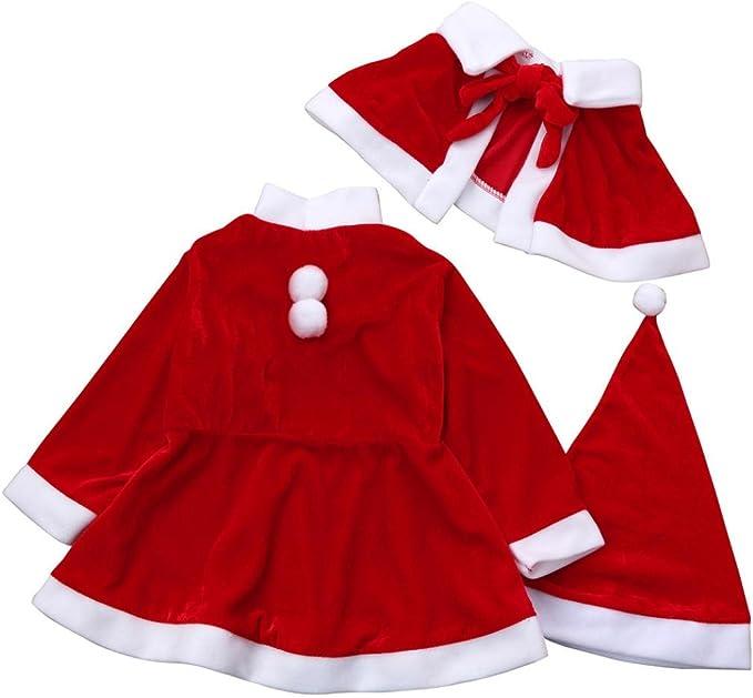 Disfraz Navidad Ropa Costume de Papá Noel para Niña Niño Bebe ...