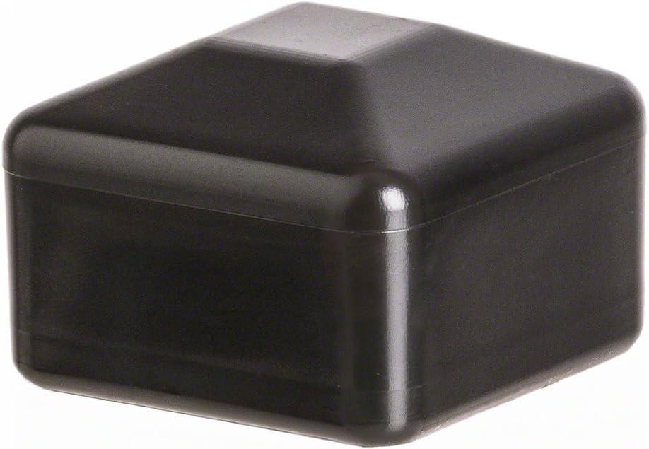10 pcs capuchon pour poteau carr/é 70x70 noir Capuchon pour poteau de cl/ôture tube plastique