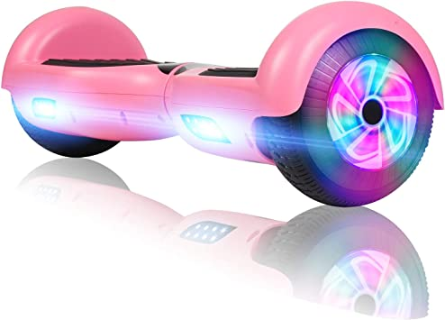 FLYING-ANT Hoverboard with Bluetooth Self Balancing Electric Scooter 6.5 Two-Wheel Hover Boards with LED Lights for Kids and Adult