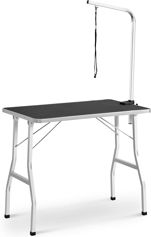 Amazon Com Dotsog Midium Size 36 Steel Legs Foldable Nylon Clamp Adjustable Arm Rubber Mat Pet Grooming Table Sports Outdoors