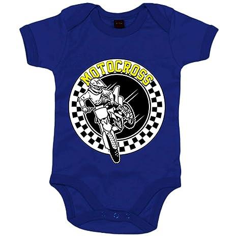 Body bebé Motocross carrera - Azul Royal, 6-12 meses: Amazon.es: Bebé